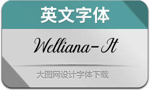 Welliana-Italic(英文字体)