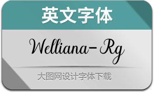 Welliana-Regular(英文字体)