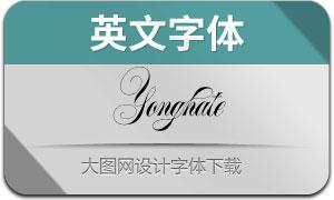 Yonghate(英文字体)