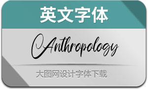 Anthropology(英文字体)