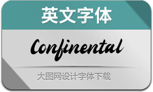 Confinental(英文字体)
