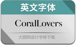 CoralLovers(英文字体)