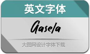Gasela(英文字体)