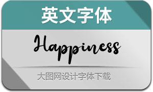 Happiness(英文字体)