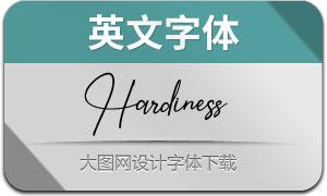Hardiness(英文字体)
