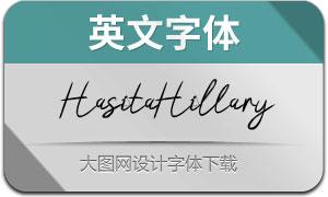 HasitaHillaryBrush(英文字体)