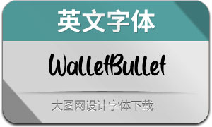 WalletBullet(英文字体)