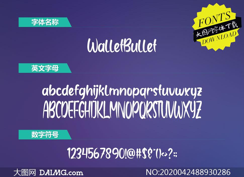 WalletBullet(英文字体)