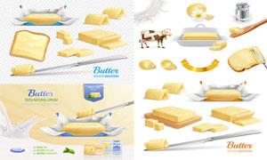 质感黄油与产品广告等设计矢量素材