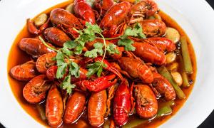 油焖小龙虾美食摄影图片