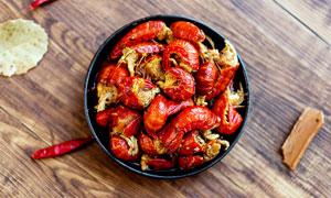 去头油焖小龙虾美食摄影图片