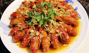 香辣小龙虾美食菜品高清摄影图片