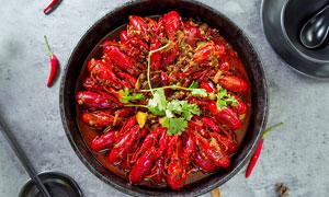 麻辣小龙虾美食菜品高清摄影图片