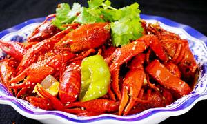 香辣小龙虾摄影图片