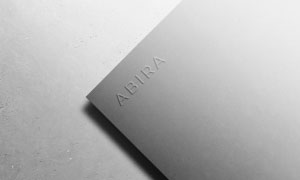 灰色凸起浮雕效果標志文字樣機模板