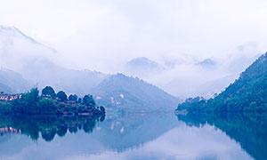 玉林佛子水库全景摄影图片