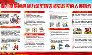 2020年全国防灾减灾日宣传栏PSD素材