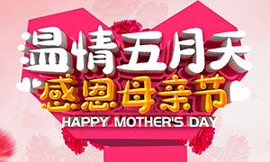 母亲节全城钜惠海报设计PSD素材