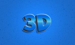 蓝色立体创意文字设计模板分层素材