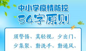 中小学疫情防控54字原则海报PSD素材