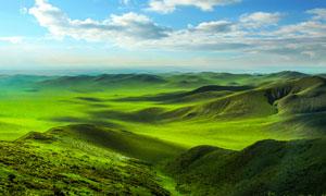乌珠穆沁草原美景摄影图片