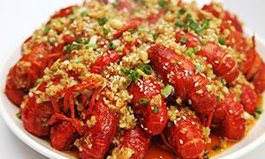 蒜泥小龙虾美食菜品摄影图片