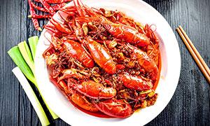 香辣小龙虾美味菜品摄影图片