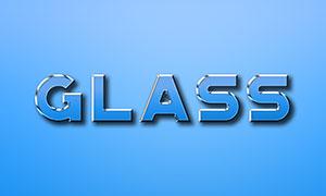 玻璃材质质感效果立体字模板源文件