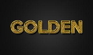 金色图案装饰立体字模板设计源文件