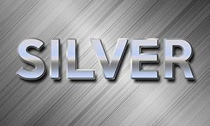 拉丝纹理上的金属立体字模板源文件
