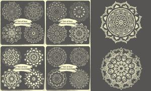 几何中心对称花纹图案主题矢量素材