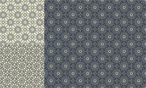 四方连续无缝拼接花纹背景矢量素材