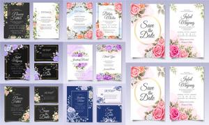 质感玫瑰花装饰邀请函设计矢量素材