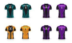 足球運動員服飾配色圖案主題矢量圖