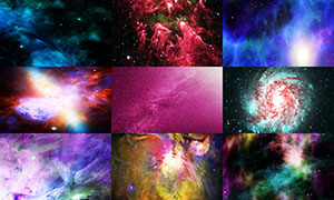 宇宙星空主题背景创意高清图片集V18