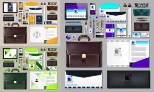 信封與平板電腦等企業視覺矢量素材