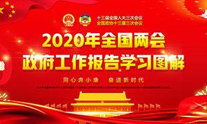 解讀2020年全國兩會政府工作報告宣傳欄