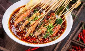 麻辣串串香美食攝影圖片