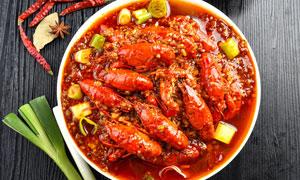 香辣小龍蝦餐飲菜品攝影圖片