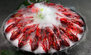 冰鎮小龍蝦美食高清攝影圖片