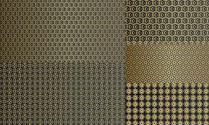 金色抽象圖案主題創意設計矢量素材