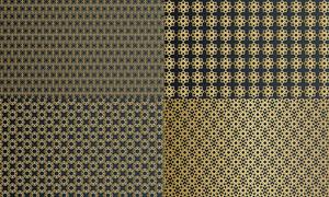 金色幾何抽象圖案主題創意矢量素材