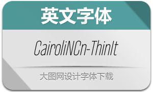 CairoliNowCn-ThinItalic(Ó¢ÎÄ×ÖÌå)