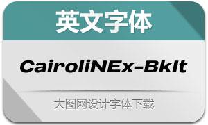 CairoliNowEx-BlackIt(英文字体)