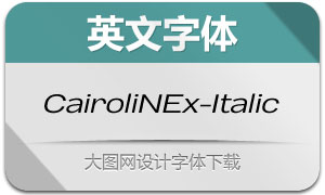 CairoliNowEx-Italic(英文字体)