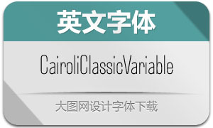 CairoliClassicVariable(英文字体)