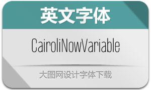 CairoliNowVariable(英文字体)