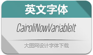 CairoliNowVariableIt(英文字体)