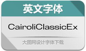 CairoliClassicEx系列14款英文字体