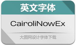 CairoliNowExtended系列14款英文字体
